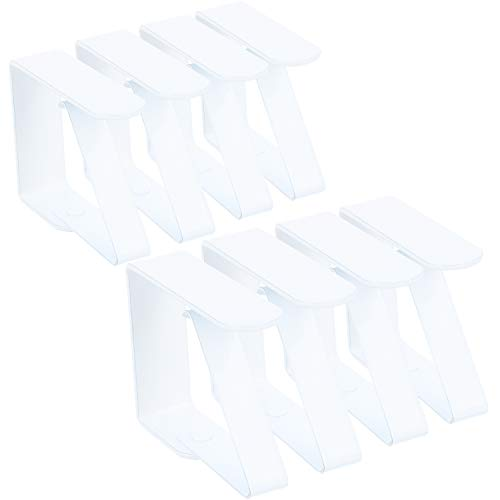 com-four® 8X Premium Tischdeckenklammer - Tischklammern aus Edelstahl - Tischtuchklammer für drinnen und draußen