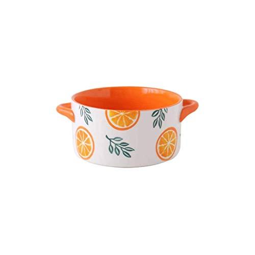 Sywlwxkq Cuenco de Sopa con 2 Asas, Cuencos de Sopa con Asas en China, Porcelana, Horno de cerámica, Apto para microondas, Apto para microondas, lavavajillas, Cocina, Grande para Fideos, Ensalada de