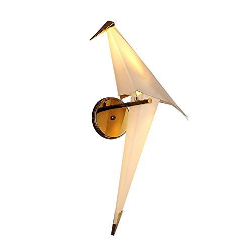 Papiermetaal acryl lampenkap Swingable Moderne LED wandlamp Elegant Creatief vogel design wandlamp Origami kranen binnen 12 W