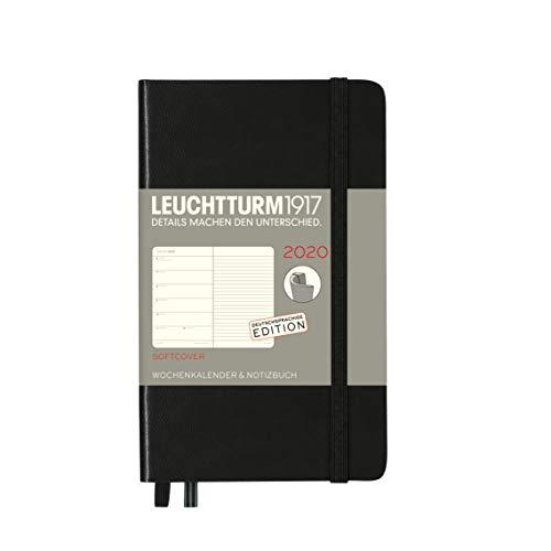 Wochenkalender & Notizbuch Softcover Pocket (A6) 2020, Schwarz, Deutsch