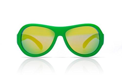 Shadez Green Junior - Gafas de sol para niño, 3-7 años