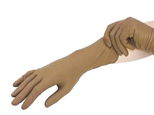 MANUTEX gant coutchouc non poudrés , bord roulé, manchette extra longue, antidérapant. réutilisable (L)
