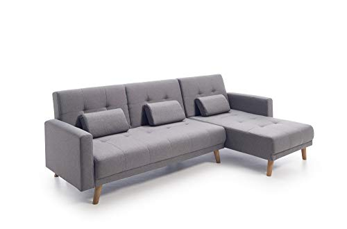 Home Heavenly - Sofá Chaiselongue Clic clac Arezzo, 3 plazas...
