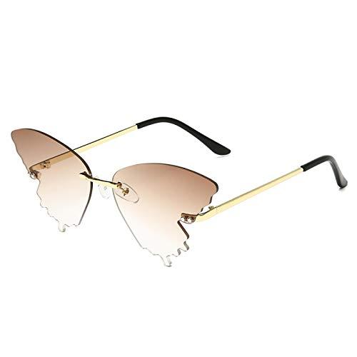 Sunglasses Gafas de Sol de Moda Personalidad Mariposa Gafas De Sol Hombres Mujeres Lujo Moda Sombras Uv400 Vintage Azul