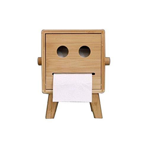 Z-Color Caja de Almacenamiento de Toallas de Papel, Caja de Tejido de pie de marioneta Linda Bambú de Madera Caja de Almacenamiento en casa Creativa Puppet Tissue Caja de Oficina Dedicado