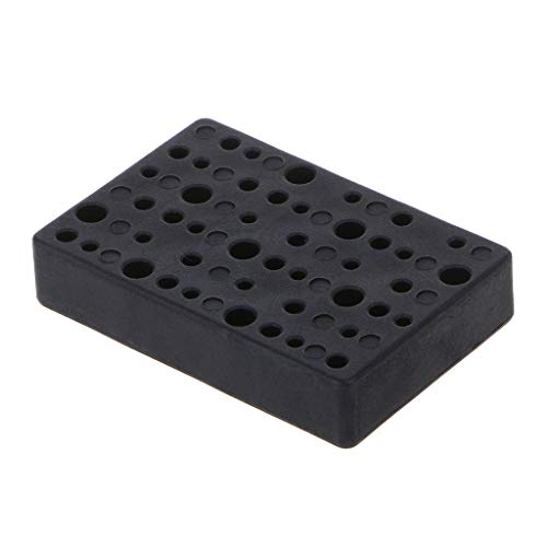 WOWOWO 45 Holes Electric Drill Bit Storage Block Box Drill Head Holder Organizer Case