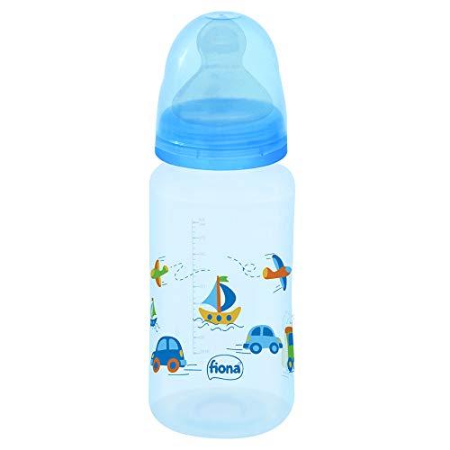 Mamadeira Fiona Silicone 300Ml Tam2 - Azul, Fiona, Azul