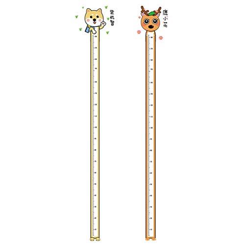 SOIMISS 2 unidades adesivo de altura infantil adesivo de crescimento decalque infantil papel de parede estilo aleatório