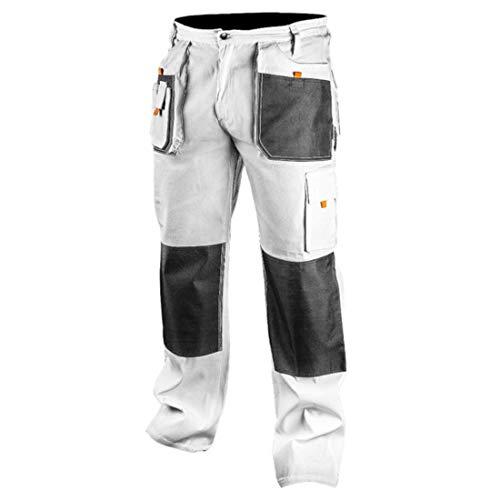 Topex Profi Arbeitshose weiß Sicherheitshose Arbeitskleidung Berufsbekleidung Bundhose Malerhose Hose S-XXL (S)