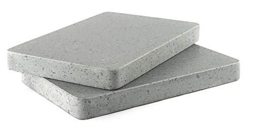 dekobe Piedra Asar Carne a la Piedra 30x20x3 | Piedra Volcánica (Pack 2 Unidades)