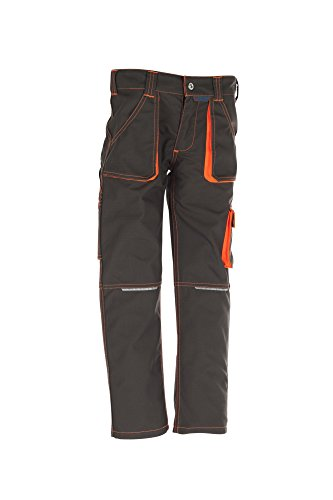 6112 Planam Junior Bundhose oliv/orange (122/128)
