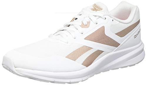 Reebok Runner 4.0, Zapatillas de Running Mujer, Blanco/ROSGOL/Blanco, 39 EU