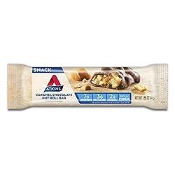 Atkins Snack Bar, Caramel Chocolate Nut Roll, Keto Friendly,...
