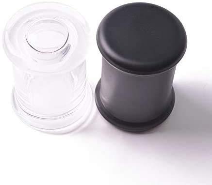 Recipientes Hermeticos Alimentos Vidrio de almacenamiento de la caja de almacenamiento de la cocina Almacenamiento de alimentos Envase con tapa de madera, botella de cristal para caramelo para tuercas