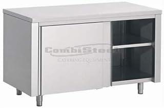Armoire Basse Inox Portes Coulissantes - Profondeur 700 - Combisteel - 1600x700 Coulissante