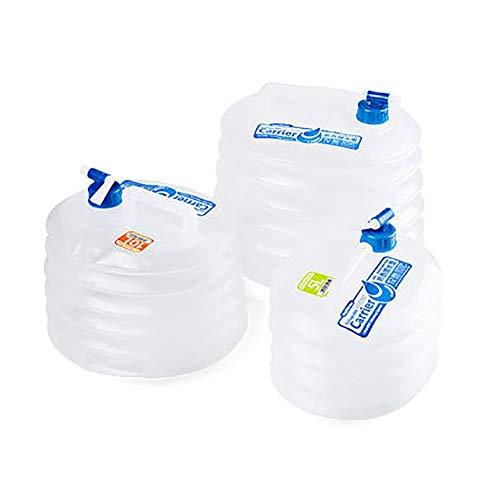 MAGFYLY Contenedor de agua resistente portátil plegable depósito de almacenamiento de barril telescópico con grifo para el hogar, al aire libre, tanque de almacenamiento de agua potable (tamaño: 10 L)