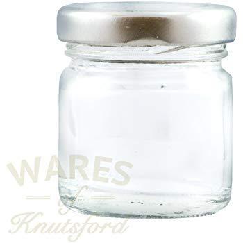 Wares of Knutsford 100 x 41ml Mini Pots pour Confiture, y Compris l'argent Torsion Hors couvercles et idéal pour Les échantillons, portions de Petit déjeuner, des faveurs de Mariage et des Cadeaux.