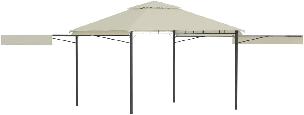 YTDTKJ Gazebo with Double Max 75% OFF Extended Cream 180 Roofs 9.8'x9.8'x9' In a popularity