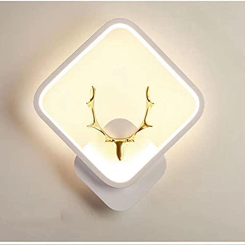 Apliques de pared LED de aluminio moderno apliques de pared LED, lámpara para dormitorio, pasillo, escaleras, baño, iluminación interior