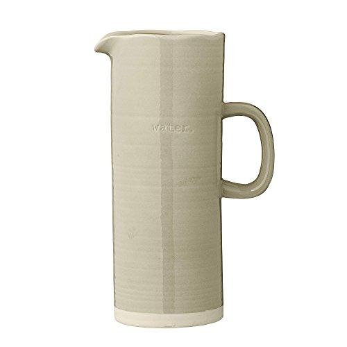 Bloomingville Embossed Grey Ceramic Water Pitcher
