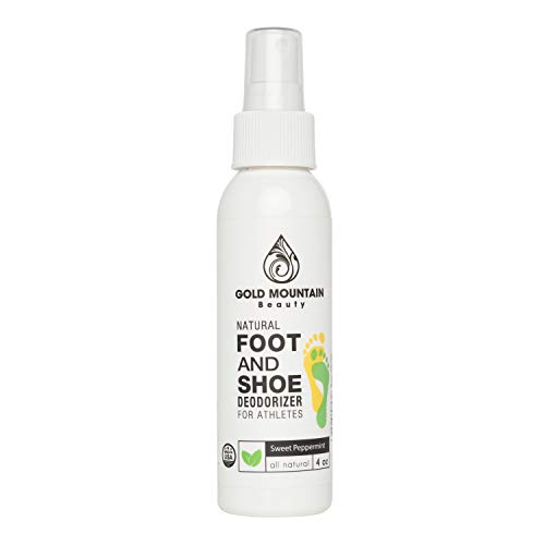 Most Effective All Natural Shoe Deodorizer Spray and Foot Odor Eliminator - Extra Strength that Destroys Odor from Stinky Shoes,4 oz