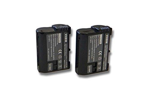 vhbw 2X Akku Ersatz für Nikon EN-EL15 für Kamera Digicam DSLR (2000mAh, 7V, Li-Ion) mit Infochip