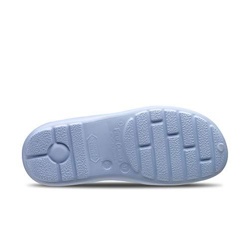 Feliz Caminar - Zapato Sanitario Flotantes Shoes Celeste, 37   Zueco Cerrado Unisex Antideslizantes y Cómodos para Hombre y Mujer   para Trabajo en Industria, Sanidad, Hostelería, Clínicas