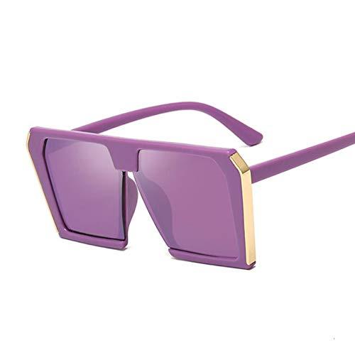 Sunglasses Gafas de Sol Gafas De Sol Cuadradas para Hombres Y Mujeres, Gafas Retro Vintage, Gafas De Sol