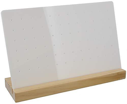 Dielay Expositor para pendientes (36 pares, madera y plástico, 26 x 18 x 8 cm)