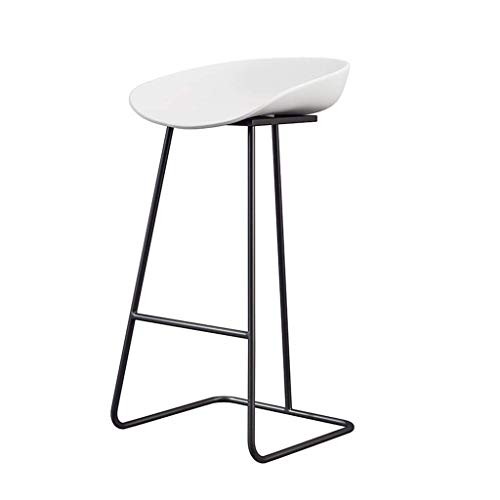 FXBFAG Bar Stool with Pedal for Kitchen Counter Height Adjustable Counter Height Barstool Chair for Kitchen Island, 300LBS Weight Capacity (White,Black)