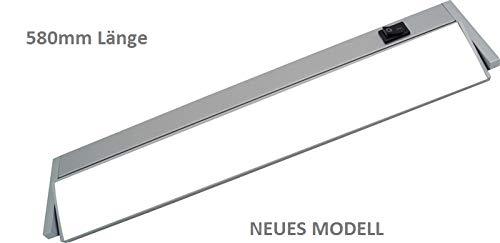 Quellmalz - Unterbauleuchte schwenkbar - Länge 580 mm Netzanschluss von beiden Seiten möglich Aluminiumgehäuse inkl. Direktverbinder-Diffuser Scheibe -5.4 WATT