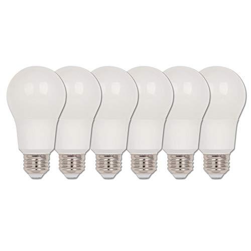 Westinghouse Lighting 5184020 5184000 9 (equivalente a 60 vatios) Omni A19 regulable blanco suave Energy Star, base mediana (Paquete de 6) foco de luz LED, pieza