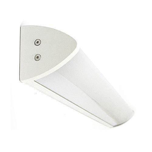 Lampenlux Wandlampe Ida Aluminium 120cm Spiegelleuchte IP44 T5 28W (Weiß)