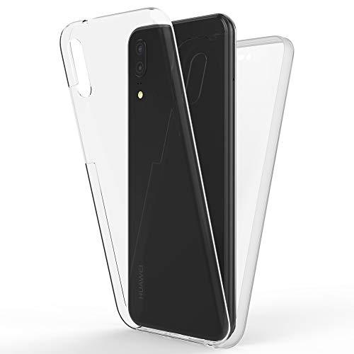 NALIA Coque Integrale Compatible avec Huawei P20, Mince Housse Avant & Arrière 360° Protection avec Verre Trempé, Ultra-Fine Telephone Portable Cover Bumper Case Slim Etui, Couleur:Transparent