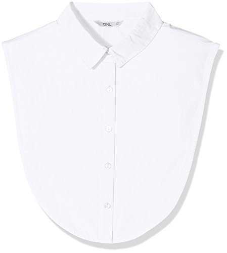 ONLY Damen ONLSHELLY Weaved Collar Acc NOOS Halstuch, Weiß (Bright White Bright White), (Herstellergröße: One Size)