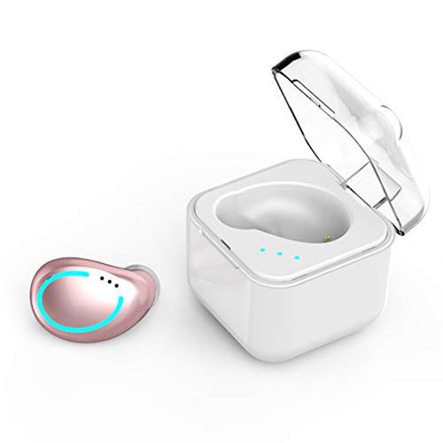 Wsaman Auriculares Inalámbricos Bluetooth en la Oreja,Auriculares para Trabajo y Deportes Viaje con Estuche de Carga Rápida, para Corriendo/Gimnasio,Rosado