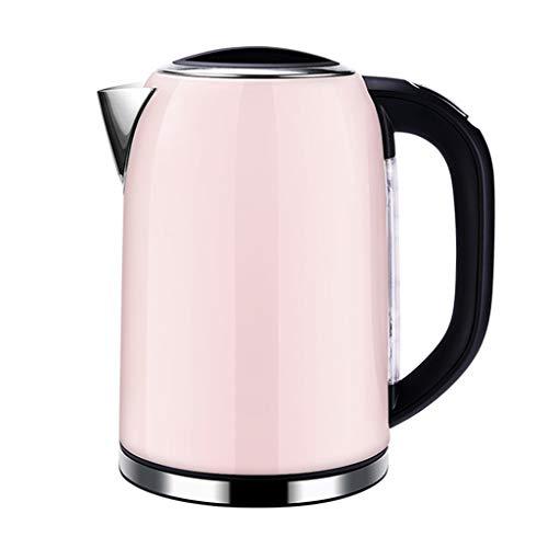 Hervidor de agua de 2000 W de acero inoxidable 304 inalámbrico de 1,5 l con nivel de agua de cierre automático y protección de hervir en seco rosa