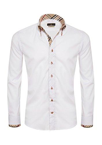 Giorgio Capone Camicia da Uomo Premium 100% Cotone, Slim/Normal Fit e Regular-Plus Fit (M Slim)