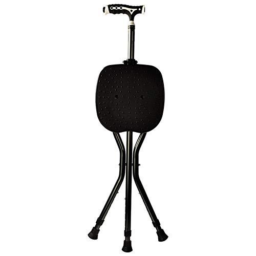Opvouwbare zitkruk Opvouwbare stoel Intrekbare wandelstok met LED-lichthoek voor ouderen Buiten reizen Vissen Rustkruk