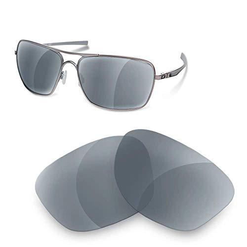 sunglasses restorer Kompatibel Ersatzgläser für Oakley Plaintiff Squared , Grey Polarisierte