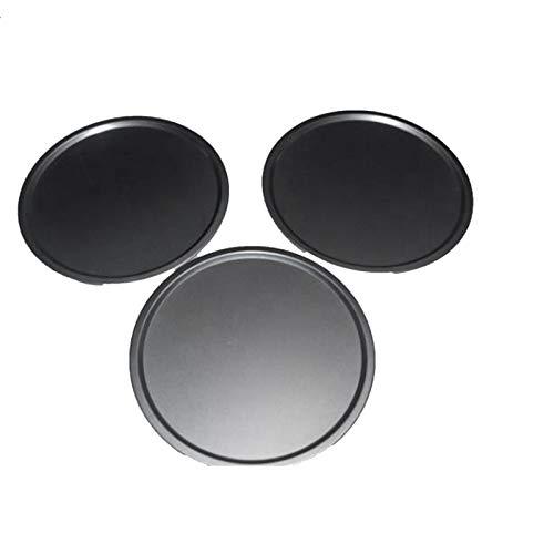 Heritan 3 piezas antiadherentes para pizza, de acero al carbono, bandeja redonda para pizza, molde para hornear – 30 cm