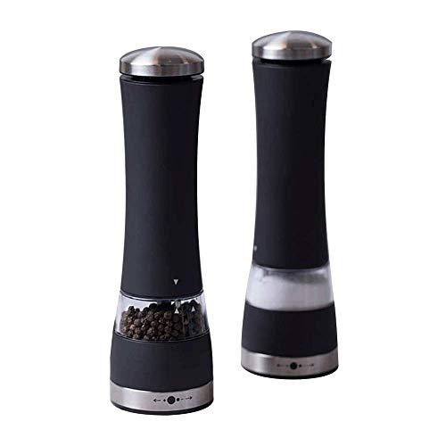 Juego de 2 Molinillo de Sal y Pimienta, Molinillo de cerámica Ajustable de Grueso a Fino, Molinillo de Especias con diseño I