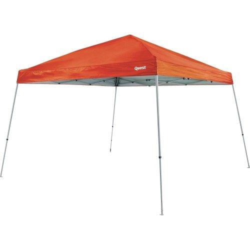 Quest 10 Ft. X 10 Ft. Slant Leg Instant Ez up Pop up Recreational Tent Canopy (Orange)