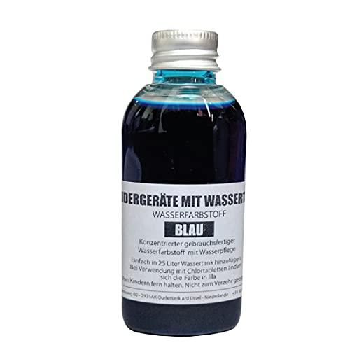 LevinQ Rudergerät Tankwasserfarbe Blau mit Handschuhe um Flecken ihre Haut zu verhindern fur Wasserrudergerätetanks wie Waterrower, Skandika, Hammer, First Degree, Fuel Fitness