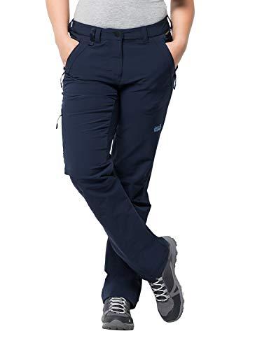 Jack Wolfskin Activate XT Damen vielseitige Damen Softshellhose, wind- und wasserabweisende Outdoorhose, Blau (Midnight Blue), 40