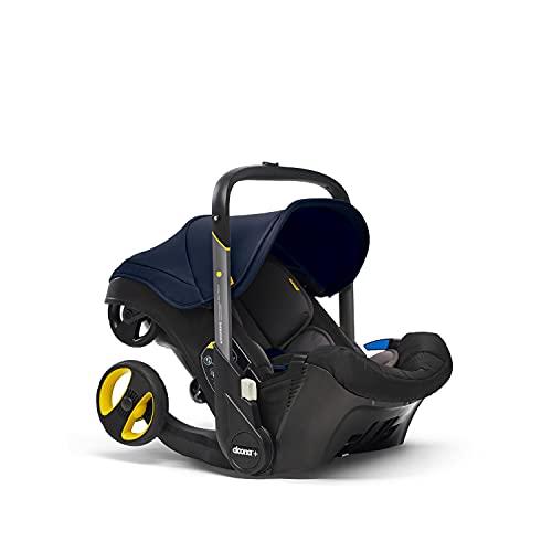 Doona+ 0+ Kindersitz - Die erste Babyschale mit integriertem Fahrgestell: Von Autositz zum Buggy in Sekundenschnelle - bis zu 13 kg - Royal Blue/dunkelblau