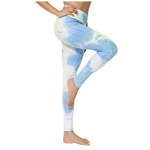 Kais Frauen Ink Yoga Tie-Dye-Hosen schlank und hip Unterhose zum Heben von Bequemlichkeit Übungen