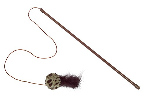 Nobby Angel mit Rasselball mit Federn  Stab 45 cm; Ball 5 cm