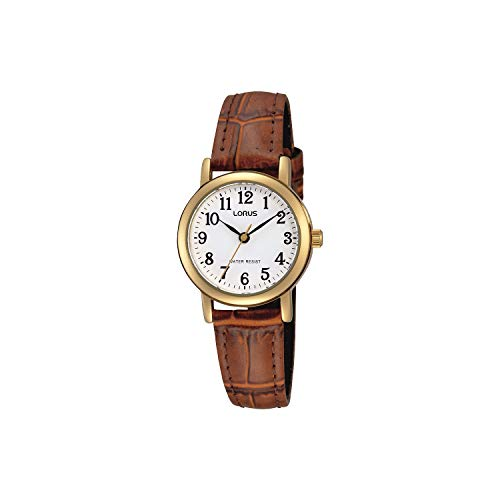 Lorus Klassik Damen-Uhr Edelstahl mit Lederband RRS18VX9
