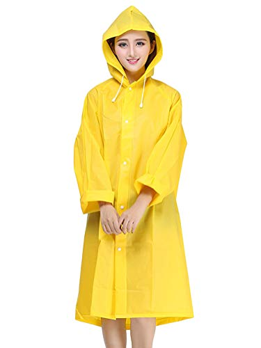 Chubasquero Impermeable mujer de color amarillo